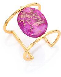 Nest - Purple Jasper Cabochan Cuff Bracelet - Lyst