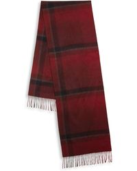 Hickey Freeman - Ombre Exploded Plaid Cashmere Scarf - Lyst