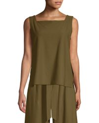 Eileen Fisher - Square Neck Shell Top - Lyst