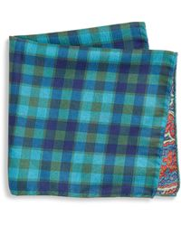 Saks Fifth Avenue | Collection Paisley Plaid Print Pocket Square | Lyst