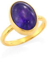 Gurhan - Amulet Hue 24k Yellow Gold & Tanzanite Ring - Lyst