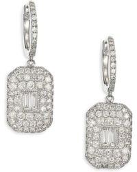 SHAY - Essentials Pave Diamond Baguette Drop Earrings - Lyst
