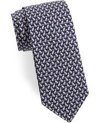 Ferragamo - Spotted Dog Silk Tie - Lyst