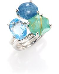 Ippolita - Rock Candy Rutilated Turquoise, Aquamarine, Blue Topaz & Sterling Silver Ring - Lyst