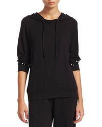 Saks Fifth Avenue - Collection Allie Embellished Hoodie - Lyst