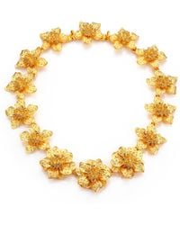 Kenneth Jay Lane - Satin-finish Flower Necklace - Lyst
