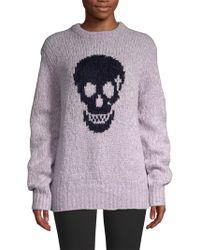 Skull Cashmere - Skull-print Textured Jumper - Lyst