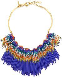 Lele Sadoughi - Striped Fringe Necklace - Lyst