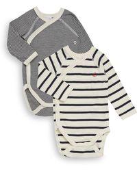 Petit Bateau - Baby's Two-piece Striped Raglan Bodysuit Sets - Lyst