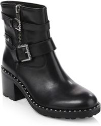Ash - Xenon Studded Leather Ankle Boots - Lyst