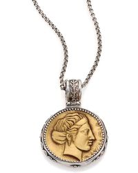 Konstantino - Kerma Olympia Bronze & Sterling Silver Coin Pendant - Lyst