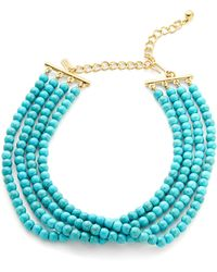 Kenneth Jay Lane - Turquoise Beaded Choker Necklace - Lyst