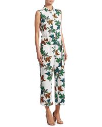 Akris Punto - Sleeveless Button-front Cropped Wide-leg Jumpsuits - Lyst