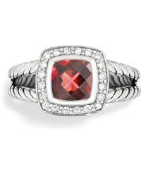David Yurman | Petite Albion Ring With Diamonds | Lyst