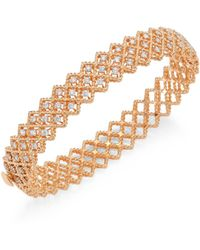 Roberto Coin - Barocco Diamond & 18k Rose Gold Bangle - Lyst