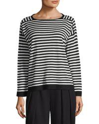 Eileen Fisher - Cashmere Stripe Sweater - Lyst