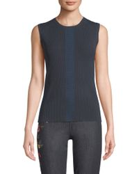 Elie Tahari - Penny Sleeveless Ribbed Sweater - Lyst