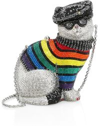 Judith Leiber - Women's Rainbow Christopher Cat Jewelled Clutch - Lyst