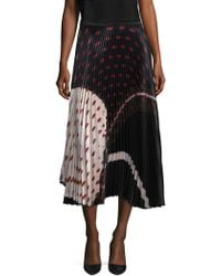Delfi Collective | Clara Printed Pleated Skirt | Lyst