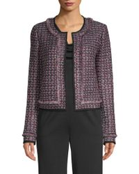 St. John - Painterly Sheen Tweed Jacket - Lyst