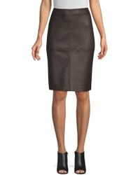 Weekend by Maxmara - Salima Leather Pencil Skirt - Lyst