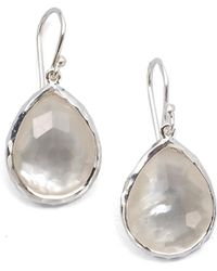 Ippolita - Wonderland Mother-of-pearl, Clear Quartz & Sterling Silver Mini Doublet Teardrop Earrings - Lyst