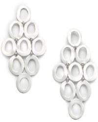 Ippolita - Glamazon Sterling Silver Open Oval Cascade Earrings - Lyst