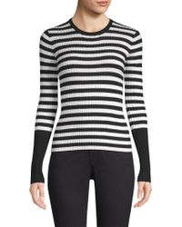ATM - Striped Ribbed Merino Wool Sweater - Lyst