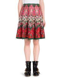 Alexander McQueen - Floral A-line Skirt - Lyst
