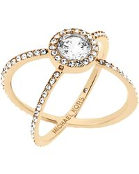 Michael Kors - Modern Brilliance Crystal Double-band Ring/goldtone - Lyst