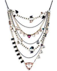 ABS By Allen Schwartz - Make Me Blush Layered Triangle Necklace - Lyst