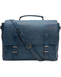 Frye Logan Leather Flap Briefcase