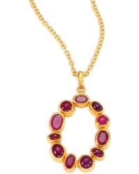 Gurhan - Amulet Hue Ruby & 24k Yellow Gold Pendant Necklace - Lyst