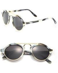 1399b4609f Illesteva - Women s Milan 49mmhorn Sunglasses - Grey Horn - Lyst