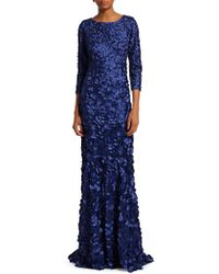 THEIA - Petal Embellished Tulip Gown - Lyst