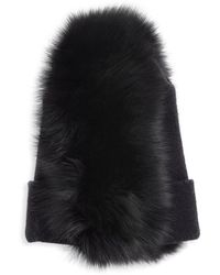 House of Lafayette - Fox Fur Mowhawk Beanie - Lyst