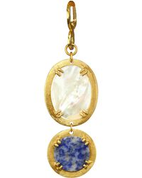 Stephanie Kantis - Paris Oval Link Mother-of-pearl & 18k Gold Pendant - Lyst