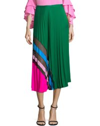 MILLY - Accordion Pleat Maxi Skirt - Lyst
