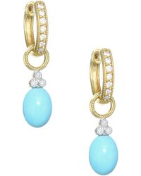 Jude Frances - 18k Yellow Gold & Diamond Champagne Briolette Earring Charms - Lyst
