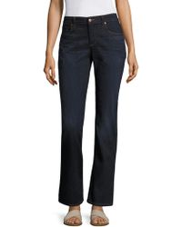 Eileen Fisher - Whiskering Straight Jeans - Lyst