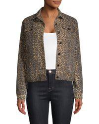 ATM - Leopard Denim Jacket - Lyst