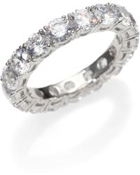 Adriana Orsini - Sterling Silver Eternity Band Ring - Lyst