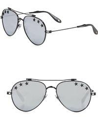 Givenchy - Women's Stars 58mm Reflective Aviator Sunglasses - Dark Grey - Lyst