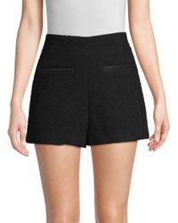 Maje - High-waisted Tweed Shorts - Lyst