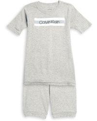 Calvin Klein - Little Boy's & Boy's Two-piece Tee & Shorts Pyjama Set - Lyst