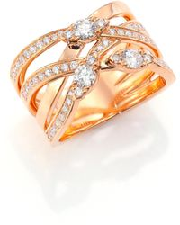 Hearts On Fire | Aerial Diamond & 18k Rose Gold Right Hand Ring | Lyst
