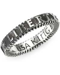 King Baby Studio - Sterling Silver Liberty Ring - Lyst
