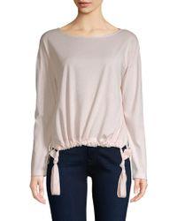 Stateside - Tie Bottom Knit Sweater - Lyst