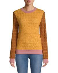 Stine Goya - Naamah Knit Colorblock Sweater - Lyst