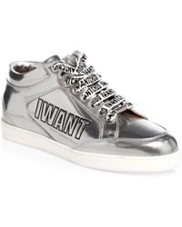 Jimmy Choo - Edina Metallic Sneakers - Lyst